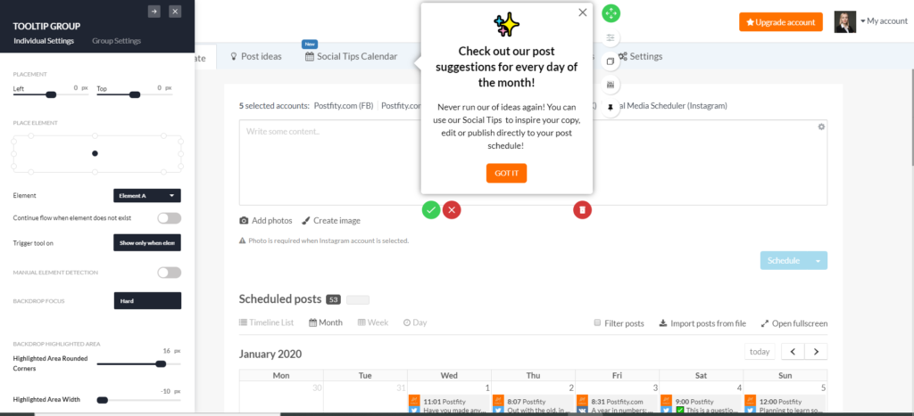 tooltip edition userpilot