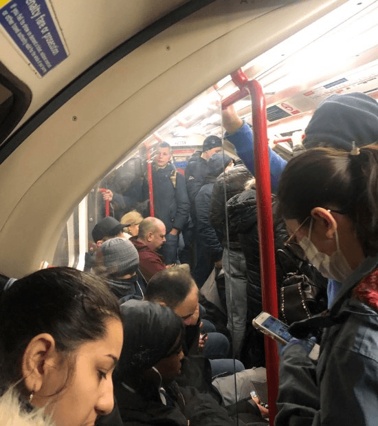 London underground under lockdown