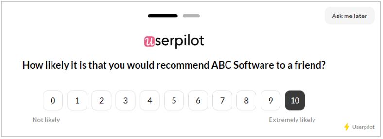 NPS userpilot