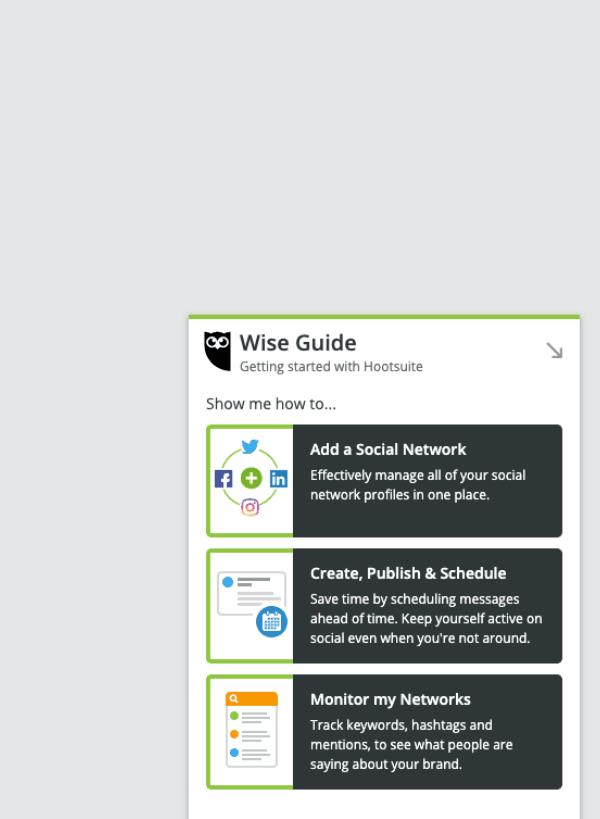 hootsuite in-app guidance