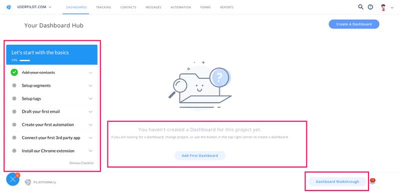 platformly in-app guidance