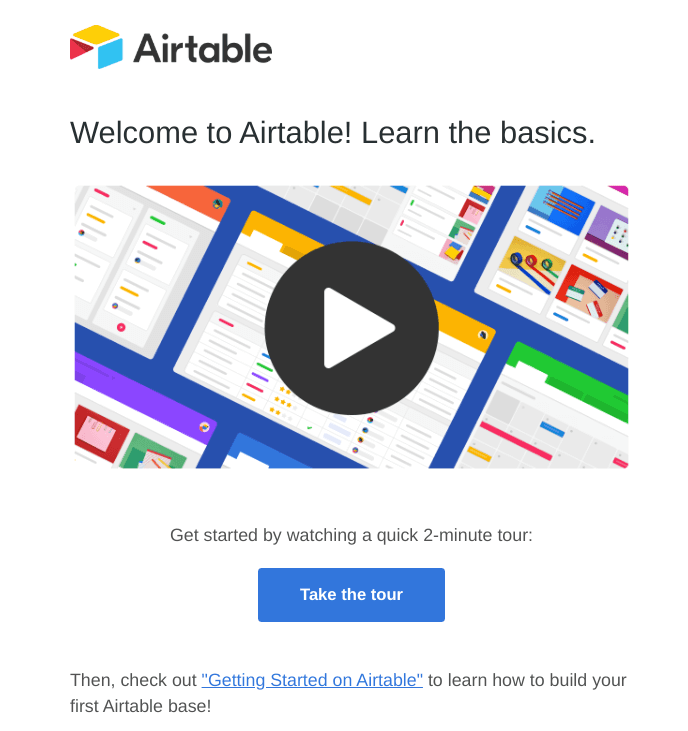 onboard invited users email