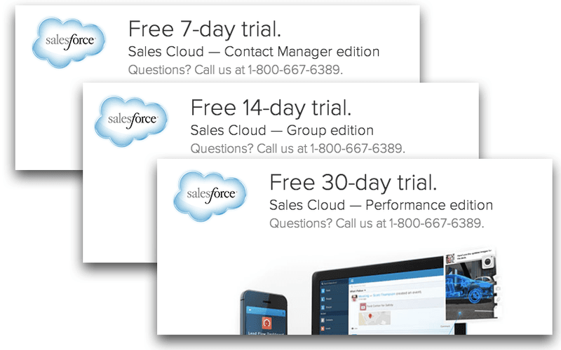 salesforce free trial