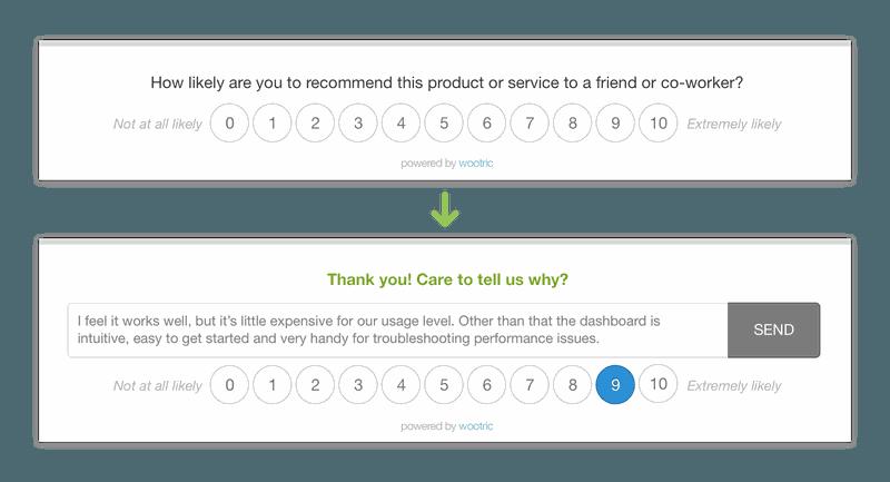 wootric feature surveys