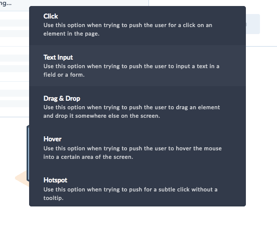 userpilot driven actions