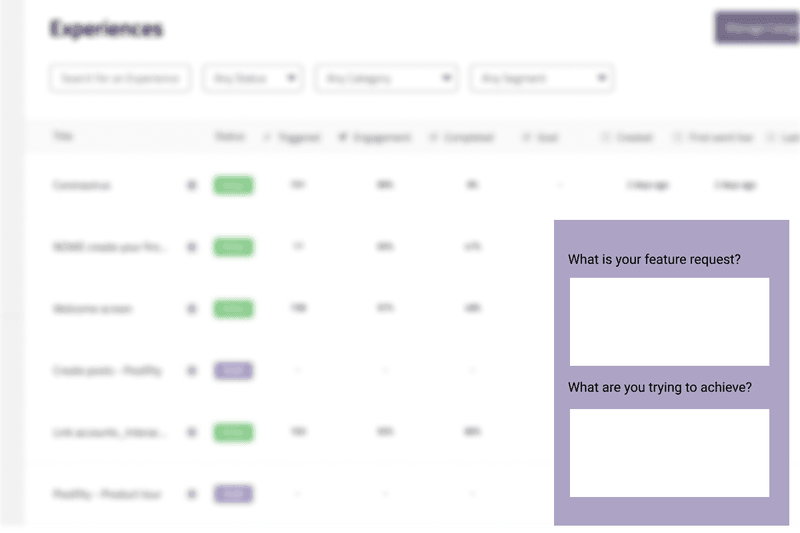 feature request microsurveys