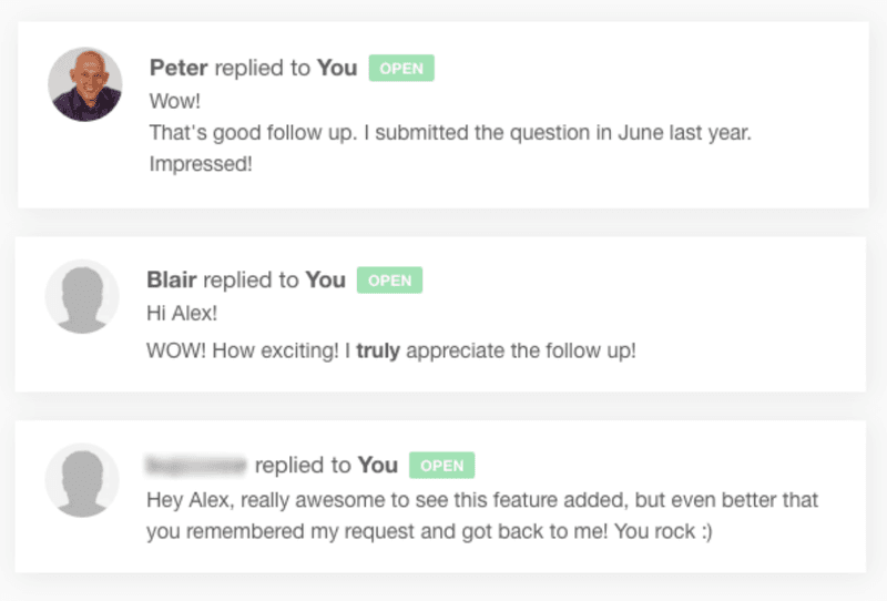 Feedback on Groove's personalised new feature email