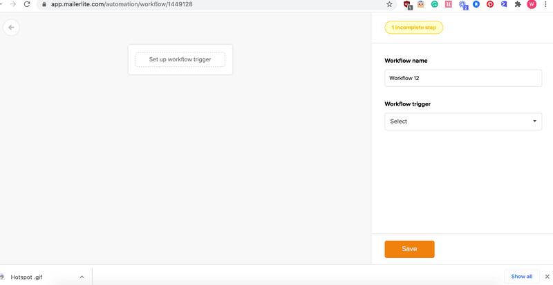 workflow mailerllite