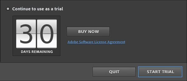 Adobe modal