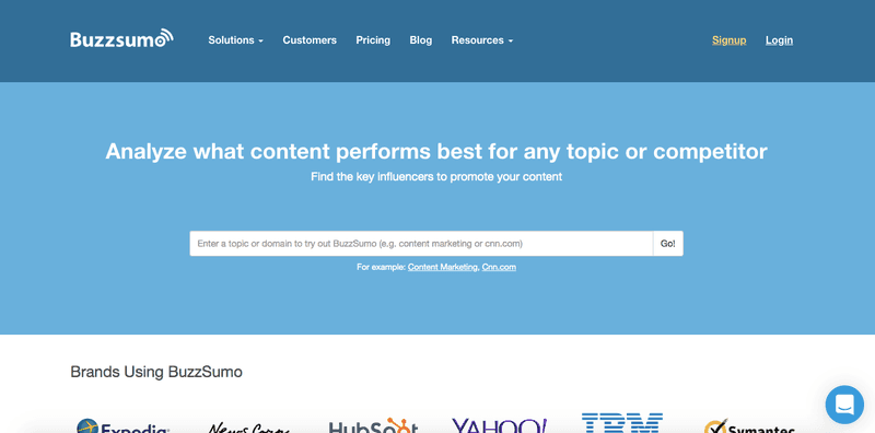Buzzsumo makes features available before trial