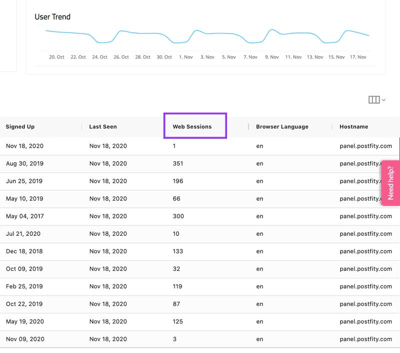 userpilot web sessions