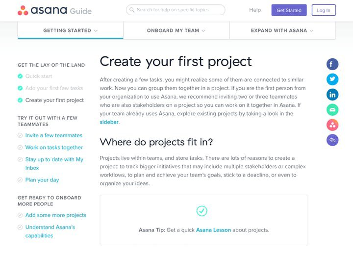 Asana sorts knowledge base by expertise level