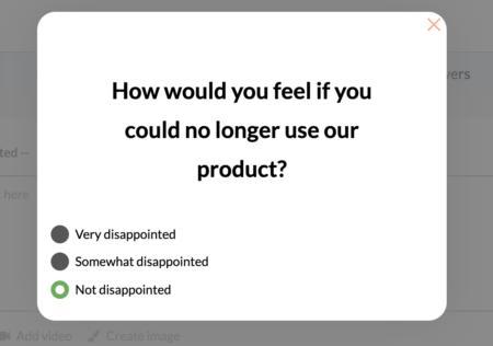 product market-fit survey